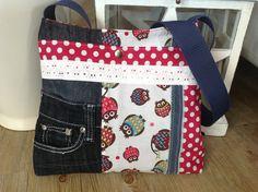 Shopper - Kinderjeanstasche > EULE < - ein Designerstück von FADENREICH-elt bei DaWanda