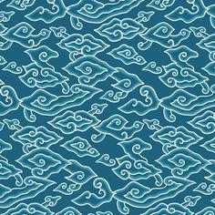Megamendung Batik Pattern on Behance Batik Art, Batik Prints, Mega Mendung, Shibori, Batik Solo, Indonesian Art, Tropical Fashion, Cirebon, Ethnic Patterns