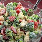 CHRISTMAS SALAD broccoli, cauliflower, cherry tomatoes, mayonnaise, sour cream, vinegar, honey, salty and pepper