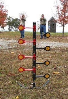 Outdoor Dueling Plinking Gun Rifle 22 Round Practice Tree Shooting Steel Target  #doalloutdoors