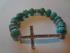 Turquoise Sideways Cross Arm Candy by Angelwingsaccessory on Etsy, $27.95