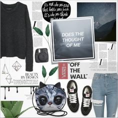 A fashion look from June 2016 featuring rag & bone sweaters, Topshop jeans and Vans sneakers. Browse and shop related looks.