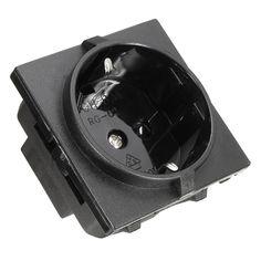 EU Plug Standard RG-02 250V 16A Power Outlet Single Plug Wall Socket Waterproof