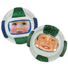 Paper Plate Astronaut Mask
