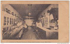 Interior , Frank Grecian's Drug Store , HILL CITY , Minnesota , 00-10s Item number: 287786334  - Delcampe.com