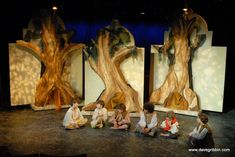 Double-sided Set for Peter Pan: The Lost Boys Tree and Nursery  Windows