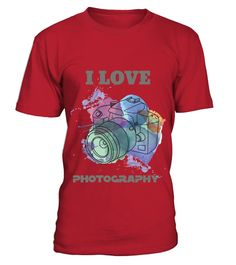 # I LOVE PHOTOGRAPHY .  The perfect t-shirt for an enthusiastic photographer who won't leave home without their camera!        Limited  Edition - Not available in stores.Guaranteed safe checkout: PAYPAL | VISA | MASTERCARD.    Buy 2 or more, get discounted shipping!        When you press the big green button, you will be able to choose your size(s).  Be sure to order before time runs out!