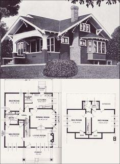 1920s Craftsman Bungalow House Plans | 1920 Original | Pinterest ...