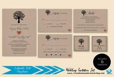 DIY Rustic Wedding Invitation Template by 1CreativeMastermind