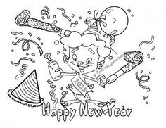 Happy New Year 2015 Coloring Pages  Chinese New Year