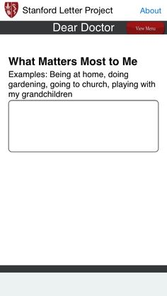Stanford Letter Project Question - advanced directive planning app