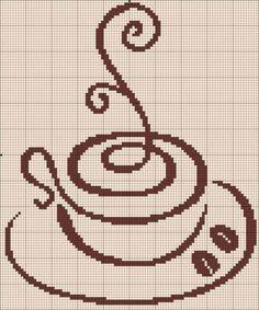 """Вышивка крестиком """"Кофейные чашечки"""" ☕"""