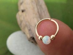 Nose Hoop 925 sterling silver or 14 k gold filled by jewelryglow