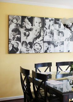 Create a DIY Photo Gallery with Style • Lots of Ideas  Tutorials! Including this Wall O' Canvas project from creative mama.