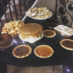 Honey Bun Cake, Brown Butter Carmel Cake, Sweet Potato Pie, Pecan Pie, Homemade Rolls, Chess Pie, Next Best Thing To Billy Dee