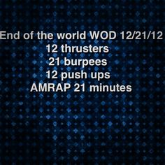 End of the world WOD