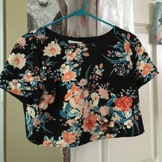 Floral crop top Floral crop top in great condition, worn a few times, but I think it would look better on you! B C N U  Tops Crop Tops