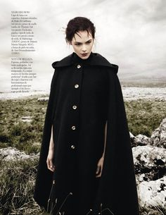 KingaRajzak4 Kinga Rajzak Dons Winter Wear for Vogue Spain January 2013 by Jason Kibbler