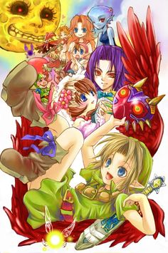 Zelda Majora's Mask characters fanart (2005).