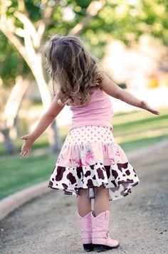 GIRLS Tiered Twirl Skirt DIY PDF Tutorial Pattern 18m - 10 years. $7.00, via Etsy.
