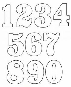 Free numbers clipart and patterns that you can use in all your craft projects. Lots of other craft clipart and patterns available. Number Templates, Alphabet Templates, Stencil Templates, Templates Free, Number Stencils, Letter Stencils, Printable Numbers, Busy Book, Alphabet And Numbers