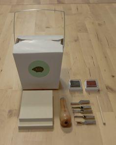 Favorito 1. Kit de carvado de sellos. De venta en la tienda de Madrid blackoveja. $25.00.