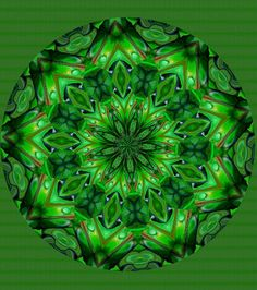 Green is the color of harmony and balance. Green is made by combining Blue wi. - Green is the color of harmony and balance. Green is made by combining Blue with yellow. Teal Green, Shades Of Green, Green Colors, Kaleidoscope Images, Faux Stained Glass, Green Earth, Mandala Coloring, Sacred Art, Color Of Life