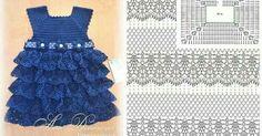 Luty Artes Crochet: Vestidos de bebê em crochê.