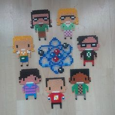 Big Bang Theory characters  hama perler beads by illustrating_sophy