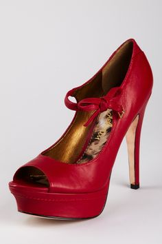 Red Hot Mary Janes.