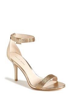 Free shipping and returns on Pelle Moda 'Kacey' Sandal at Nordstrom.com. Crystal embellishments sparkle on the sleek straps of a glamorous metallic sandal.