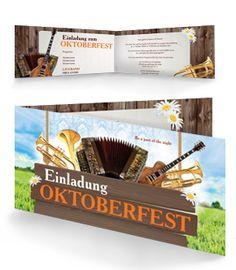 Einladungskarte in der Farbe Orange für Oktoberfeste. #einladungskarte #einladungen #oktoberfest