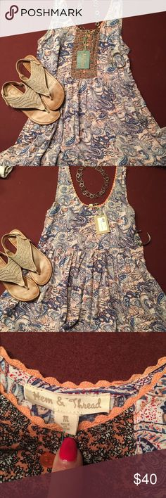 NWT Cute boutique dress Nwt really cute boutique dress wrong size I've only tried on never worn Hem & Thread Dresses Mini