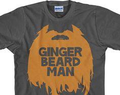 Redhead Shirt Ginger Beard T shirt ginger beard man by UnicornTees