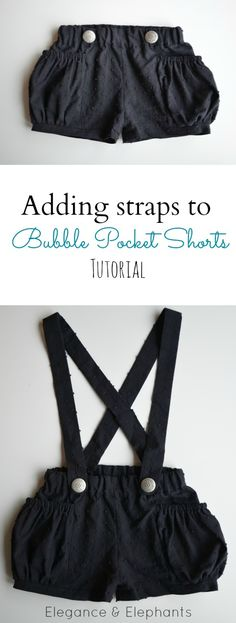 Elegance & Elephants: Adding Removable Straps to Bubble Pocket Shorts (or any shorts) Tutorial