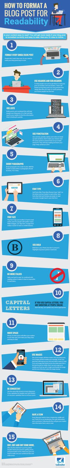 How to Format a Blog Post for Readability #infographic