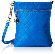 Tommy Hilfiger Isabella Quilted Nylon Crossbody Cobalt >>> Continue to the product at the image link. (This is an affiliate link and I receive a commission for the sales) Tommy Hilfiger Handbags, Street Style Women, Womens Fashion, Style Fashion, Cobalt, Shoulder Bag, Purses, Image Link, My Style