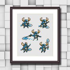 Shovel Knight Sampler Cross Stitch Pattern | Craftsy