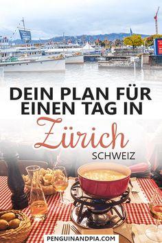 Du fragst dich, was du an einem Tag in Zürich, Schweiz unternehmen kannst? In diesem Artikel stellen wir dir unsere Version eines tollen Tages in Zürich vor - vom Frühstück über Sehenswürdigkeiten bis zum Abendessen! #zürich #schweiz #reisetipps Reisen In Europa, Zurich, Amazing Destinations, Travel Around, Us Travel, Alcoholic Drinks, Adventure, Vacation, Places