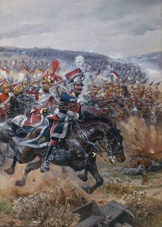 Poniatowski's last charge at Leipzig, by Richard Caton Woodville