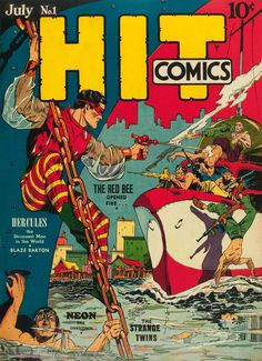 The Red Bee first appeared in Hit Comics #1, July, 1940. His secret identity is Richard Raleigh, an assistant DA in Oregon.  He used trained bees and a stinger gun to fight criminals and Nazi saboteurs.  The rights to the character now belong to DC and the Red Bee has appeared in some titles as has his grandniece--who appears to have retired.