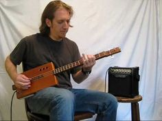 """3 String Cohiba and a glass slide............. Mike Snowden """"Porch Song"""" from the CD """"Summer in the Fields - Cigar Box ..."""