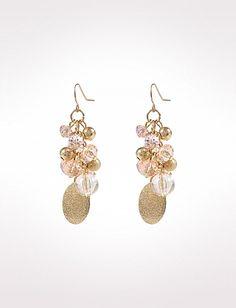 Gold-Tone Cluster Earrings