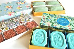Floral Art Deco Soap Collection  Valentine's Day  by charliesnest