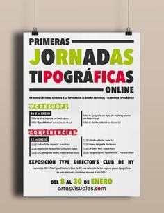 Para gustos los colores, dos versiones de un mismo cartel tipográfico realizado por nuestra alumna Ana Gema Sanabria Reyes