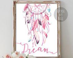 PRINTABLE Art Sweet Dreams Typography Art by WishfulPrinting