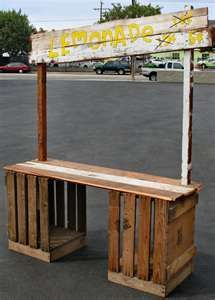 Lemonade stand for stage