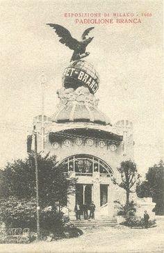 Milano, Expo 1906: padiglione della Fernet Branca.