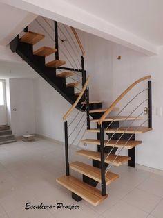 escalier acier et bois h lico dal de style bistrot et r tro dh45 spir 39 d co bistrot marches. Black Bedroom Furniture Sets. Home Design Ideas