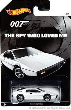 Mattel Hot Wheels: Lotus Espirit from James Bond The Spy who Loved Me Matchbox Autos, Matchbox Cars, Custom Hot Wheels, Hot Wheels Cars, Carros Hot Wheels, Lotus, Cinema, Us Cars, Diecast Model Cars